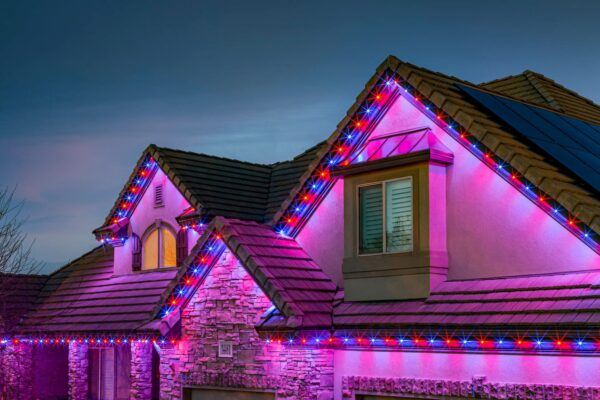 Central Florida Trimlight outdoor programmable lighting system installed on a house.