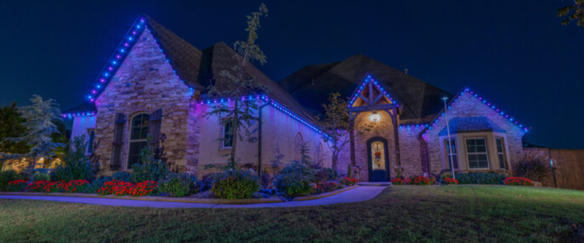 Central Florida Trimlight programmable lighting system installed on a house.
