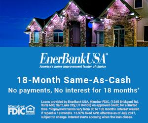 Central Florida Trimlight 18 Months Same as Cash Financing Banner.